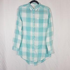 JAG Green Checker Button Shirt